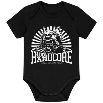100% Hardcore bébé barboteuse classic   noir