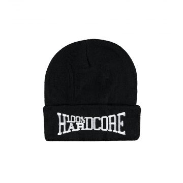 100% Hardcore bonnet avec broderie rage | noir
