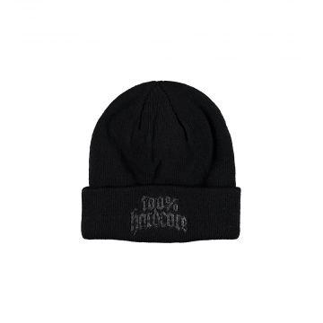 100% Hardcore bonnet avec broderie rottweiler | noir