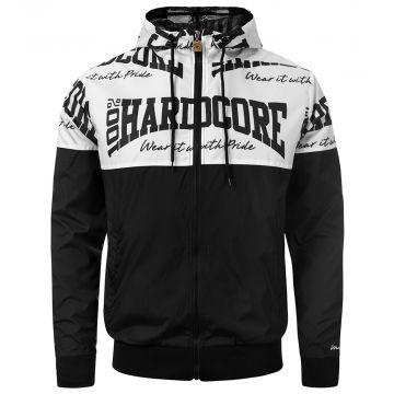 100% Hardcore veste coupe-vent The Brand | noir - blanc