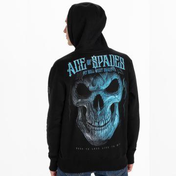 Pit Bull hooded sweater blue skull | zwart