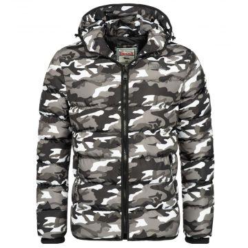 Lonsdale veste à capuche pour hommes Loman   gris camo