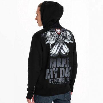 Pit Bull hooded sweater make my day 21 | zwart