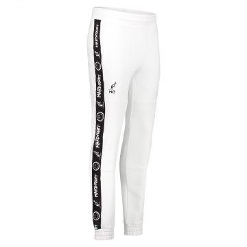 Australian Hard Court pantalon de jogging avec bande oeuvre sourire   blanc