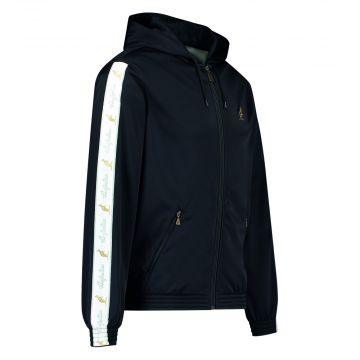 Australian veste avec capuche et bande blanche 2.0 sur les manches | noir