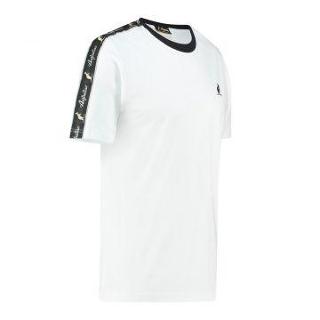 Australian T-shirt avec bande noire sur les épaules | blanc
