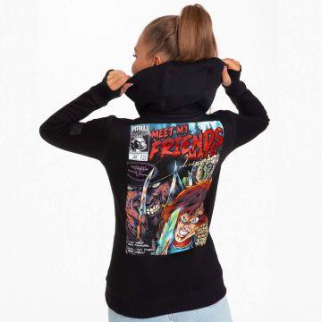Pit Bull dames hooded sweater meet my friends | zwart