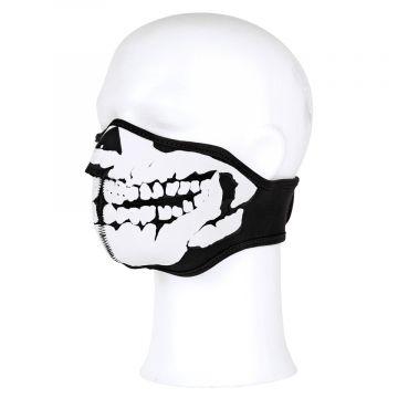 Masque facial néoprène crâne 3D | noir / blanc