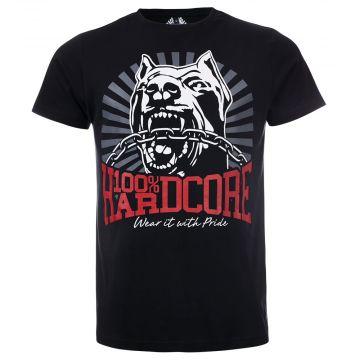 100% Hardcore t-shirt | dog ☓ texte rouge