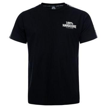 100% Hardcore T-shirt avec bande d'épaule UNITED SPORT | noir