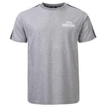 100% Hardcore T-shirt avec bande d'épaule UNITED SPORT | gris chiné