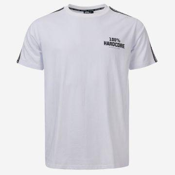 100% Hardcore T-shirt avec bande d'épaule UNITED SPORT | blanc