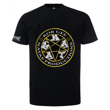 100% Hardcore ft Rob Gee T-shirt logo | noir
