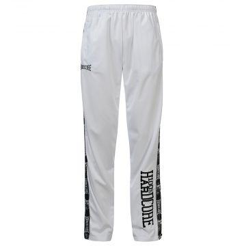 100% Hardcore pantalon avec bande noire | blanc