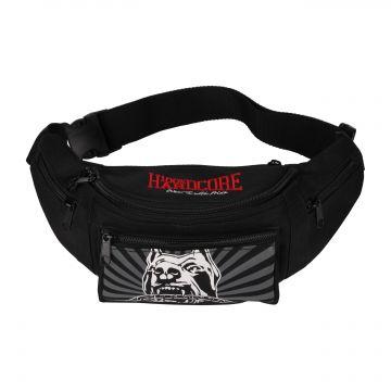 100% Hardcore sac de taille barking dog   noir