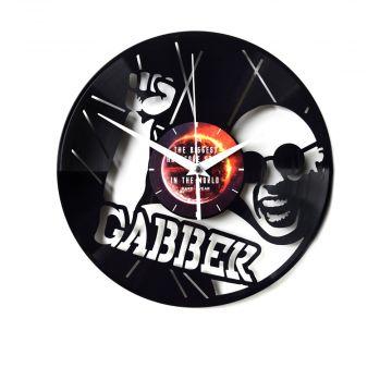 Gabber klok vinylplaat versie II | zwart