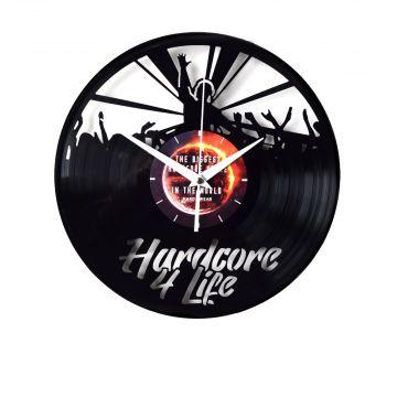 Hardcore 4 Life klok vinylplaat | zwart