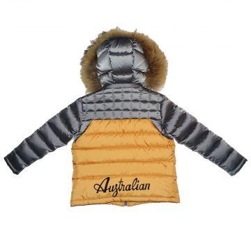 Australian veste d'hiver pour les enfants | gris - orange