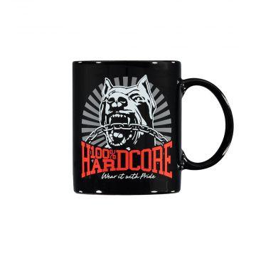 100% Hardcore tasse de café *DOG-1* [imprimé recto-verso]   noir