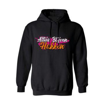 Hard-Wear x Graffiti Hooded Sweater Altijd Blijven Hakken! | zwart