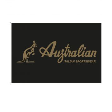 Australian drapeau logo doré