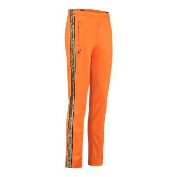 Australian pantalon avec bande dorée et deux fermetures éclair 2.0   orange fluo