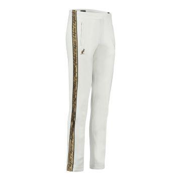 Australian pantalon avec bande dorée et deux fermetures éclair 2.0 | blanc