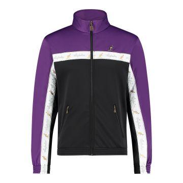 Australian veste duo bande de poitrine blanche 2.0 | noir - violet