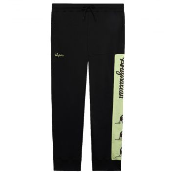 Australian pantalon de jogging avec bande vert fluo   noir