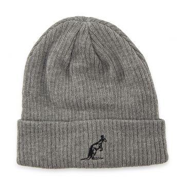 Australian bonnet logo brodé Gris