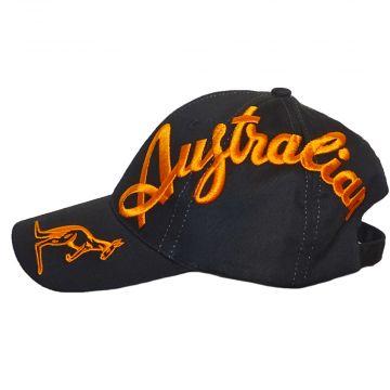 Australian casquette crossover logo EXCLUSIF | noir X texte orange