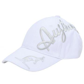 Australian casquette broderie croisée en argent exclusive | blanc