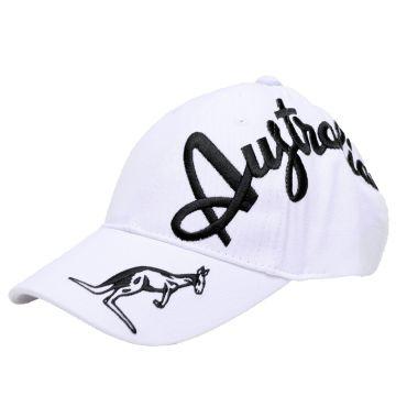 Australian casquette broderie croisée noir exclusive | blanc