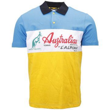 Australian polo   bleu - jaune