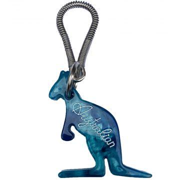 Australian porte-clés | marmer effect ☓ bleu