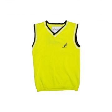 Australian spencer pour les enfants logo en relief  | jaune