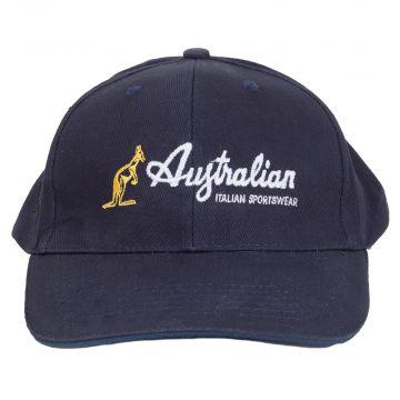 Australian Sportswear casquette de baseball logo brodé | bleu marin