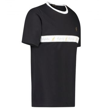 Australian T-shirt avec bande blanche sur la poitrine | noir