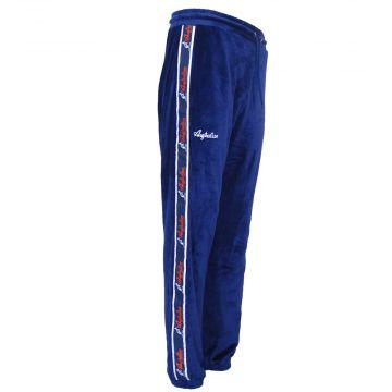 Australian pantalons de survêtement avec bande orange tissu de velours   navy