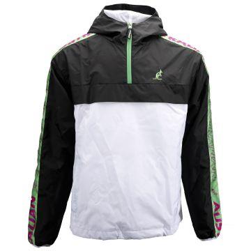 Australian veste coupe-vent Spécial avec bande verte/violette | noir - blanc
