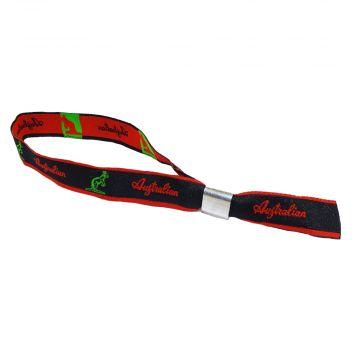 Australian festival bracelet | logo ☓ bande rouge