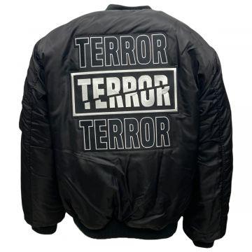 Terror Bomberjack  geborduurd   zwart