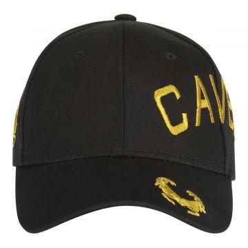 Cavello casquette logo croisée brodé doré | noir