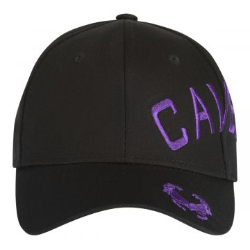 Cavello casquette logo croisée brodé violet | noir