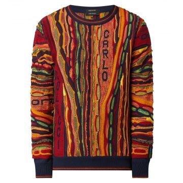 Carlo Colucci pull en tricot 102 | multicolore