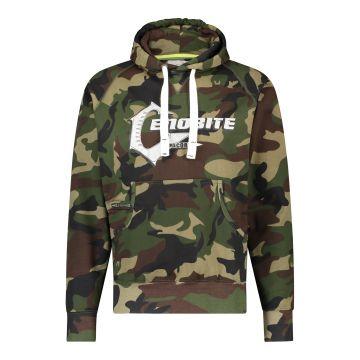 Cenobite pull à capuche logo argenté camouflage | vert