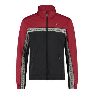 Australian veste duo bande de poitrine argentée 2.0 | noir - bordeaux rouge