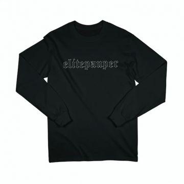 ELITE PAUPER. logo goth à manches longues | noir