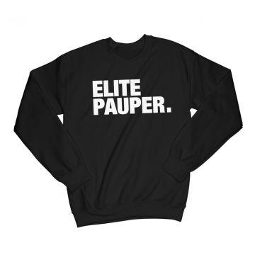 ELITE PAUPER. t-shirt à manches longues | logo X noir