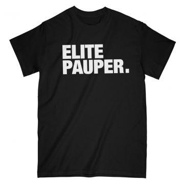 ELITE PAUPER. t-shirt | logo X noir